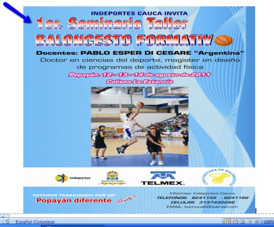 Seminario Internacional de baloncesto formativo