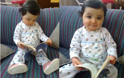 Bianca leyendo